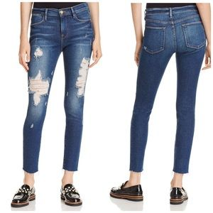 NWT Frame Le High Raw Hem Skinny Jeans Enford